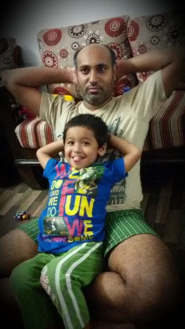 hubby and him
